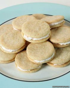 "See the ""Pink Grapefruit Sandwich Cookies"" in our Grapefruit Recipes gallery Recettes Martha Stewart, Martha Stewart Recipes, Cookie Recipes, Dessert Recipes, Desserts, Party Recipes, Free Recipes, Baking Recipes, Cookie Sandwich"