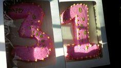 31 year old birthday cake.