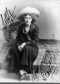 """Duncan, Geoffrey.  SummaryStudio portrait of a woman in London, England; she is part of """"The Red Man"""" from Buffalo Bill's Wild West Show. She wears cowgirl clothes including a wide brimmed hat.  Date[1909?]"""