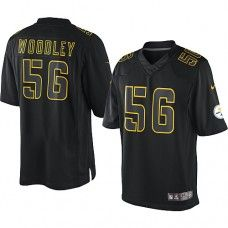 9d9bdfc63 NFL Mens Elite Nike Pittsburgh Steelers  56 LaMarr Woodley Impact Black  Jersey Nfl Redskins