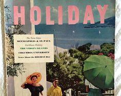 vintage Holiday magazine, February 1951