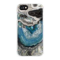 Blue beige agate marble - iPhone 7 Case And Cover (2,250 INR) ❤ liked on Polyvore featuring accessories, tech accessories and iphone case
