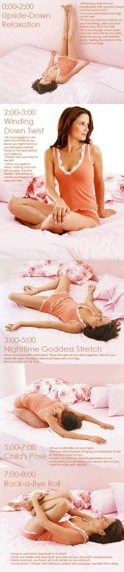 Before hitting the pillow, relax with some easy yoga poses for deeper and more relaxed sleep