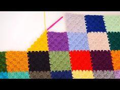 Motif değil Bütün C2C tekniği ile Örgü Battaniye Yapımı ( Köşeden Köşeye) - YouTube C2c Crochet, Manta Crochet, Crochet Videos, Crochet Stitches, Crochet Flower Tutorial, Crochet Flowers, Enterlac Crochet, Lace Knitting Patterns, Crochet Projects