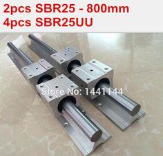 2X SBR10-2000mm 10MM FULLY SUPPORTED LINEAR RAIL SHAFT ROD 4 SBR10UU Block