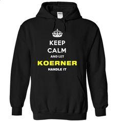 Keep Calm And Let Koerner Handle It - #tshirt typography #pullover hoodie. GET YOURS => https://www.sunfrog.com/Names/Keep-Calm-And-Let-Koerner-Handle-It-cajpo-Black-11727879-Hoodie.html?68278