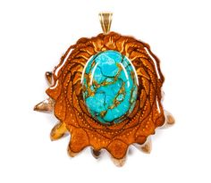 Blue Mohave Turquoise (Medium) Third Eye Pinecone Talisman Necklace on Etsy, $99.00