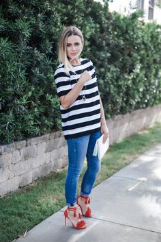 How to add glam to a causal look for a summer casual look with PAIRIE Casual Outfits For Moms, Casual Winter Outfits, Mom Outfits, Summer Outfits, Casual Summer, Fall Fashion Outfits, Women's Summer Fashion, Autumn Fashion, Chic Summer Style