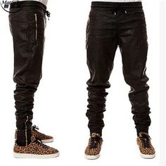 aa6b1b6c5d256 Man Si Tun New Kanye west Hip Hop big and tall Fashion zippers jogers Pant  Joggers
