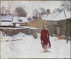 John Singer Sargent (American, 1856–1925). Mannikin in the Snow, ca. 1891–93. The Metropolitan Museum of Art, New York. Gift of Mrs. Francis Ormond, 1950 (50.130.12) #snow