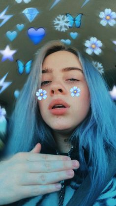 Billie Eilish, Cute Love Memes, Blue Aesthetic, Celebs, Celebrities, Cute Wallpapers, Stunning Wallpapers, Aesthetic Pictures, Cartoon Art