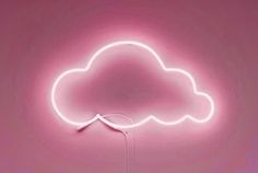 Pink Neon Light Up Cloud Sign | Wall Art | Lights | Neons