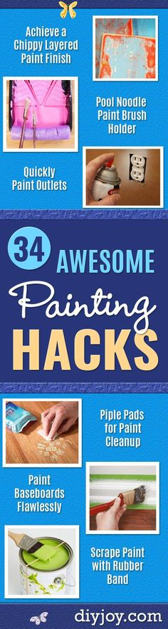 Painting Walls Tips, Painting Baseboards, Painting Trim, Diy Painting, Painting Hacks, House Painting, Paint Brush Holders, Paint Your House