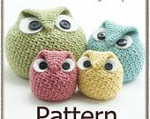 NEW PATTERN Chubby Owl Family Crochet Pattern by knotsewcute