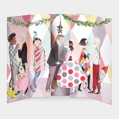 Mistletoe (Festive Kisses) Sophie Blackall for the Museum of Modern Art Christmas Cards