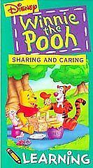 Winnie the Pooh - Pooh Learning - Sharing and Caring (VHS, 1994)