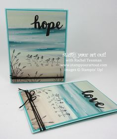 Wetlands + Serene Scenery = Fabulous Card… #stampyourartout - Stampin' Up!®…