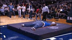 Still the Best Medicine.....This is the famous (infamous) National Basketball Association (NBA) dunk that has gone viral of a rather large fan trying to  using a trampoline and face planting into the mat. It happened at halftime of a 2012 Hawks-Celtics game. - See more at: http://stillbestmed.blogspot.com/#sthash.AKsD6QTi.dpuf