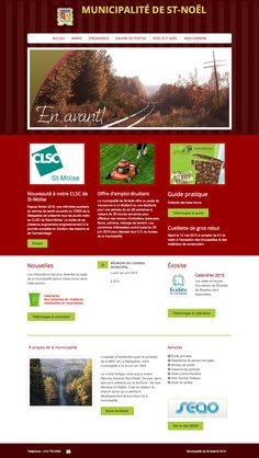 Municipalité de St-Noël, un site Web créé avec Mon site Primo