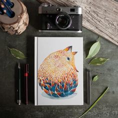 Hand Painted Watercolor Jewelry, Notebooks and Art Prints by Norvile Dovidonyte
