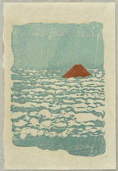 Koshiro Onchi 1891-1955 - Mt. Fuji over Clouds - artelino Art Auctions.
