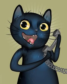kitty is a talker by chris beetow illustration