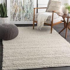 Beachcrest Home Othello Handmade Flatweave Wool Ivory Area Rug & Reviews | Wayfair