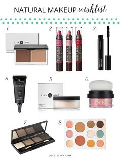 My wishlist of natural, organic, non-toxic makeup products.