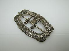 Art Nouveau Sterling Silver Belt Buckle.  C1900 Edwardian Sash Buckle Leaf Scroll Motif.  Antique Late Victorian Jewelry Dress Accessories. by MercyMadge on Etsy