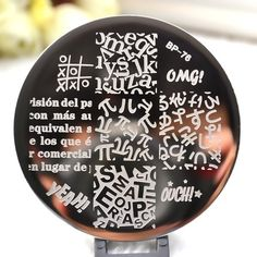Cheap plate art, Buy Quality plate processor directly from China plate markings Suppliers: 1 PC BORN PRETTY Stamping Plate letter figure Nail Art Stamping Template Image Plate BORN PRETTY Manicure Images, Nail Art Images, Nagel Stamping, Nail Stencils, Born Pretty, Nail Art Stamping Plates, Nail Plate, Alphabet, Image Plate