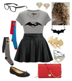 """Batman VS Superman"" by briony-jae ❤ liked on Polyvore featuring Noir, Dolce&Gabbana, rag & bone, Style & Co., Neiman Marcus, women's clothing, women, female, woman and misses"