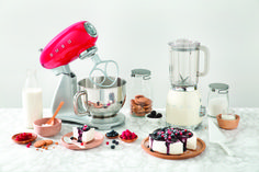 Smeg SDAs Red Stand Mixer and Cream Blender.