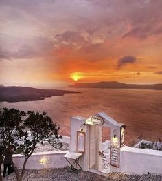 Sunset in Santorini island, Cyclades, Greece Santorini Island, Santorini Greece, Greek Islands, Sunrise, Clouds, Sky, Sunsets, Places, Tourism