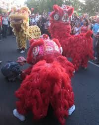 NZ fastest growing ethnic groups are Asian, the lion dancers at the Auckland Lantern Festival