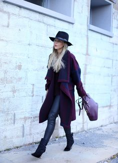 Happily Grey   CLARET   http://www.happilygrey.com I'm obsessed with this fit and this woman's style! She's amazing!