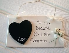 Chalkboard Countdown. Totally doing this, love it!