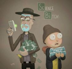 Breaking BAD rick n morty Cartoon Crossovers, Cartoon Tv, Cartoon Shows, Rick And Morty Drawing, Rick And Morty Tattoo, Rick I Morty, Rick And Morty Season, Rick And Morty Poster, Ricky And Morty