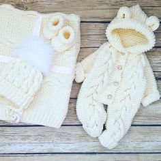 Baby Coming Home Outfit Set Spring Girl Boy Crochet Knitted, Bear Onesie Hooded Hodie Coveralls/Overalls/Romper/Jumpsuits, Baby shower Gift – Stricken sie Baby Kleidung Baby Cardigan, Baby Pullover, Baby Vest, Baby Knitting Patterns, Baby Patterns, Crochet Patterns, Teddy Bear Clothes, Knitted Baby Clothes, Newborn Crochet