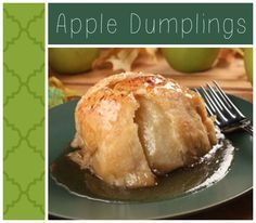 Apple Dumplings- This warm, brown sugar, cinnamon spiced, baked apple wrapped in a flaky, buttery pastry is simply delicious! Can you say yum?