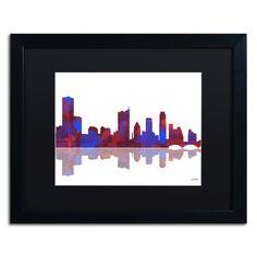 Austin Texas Skyline II by Marlene Watson Framed Graphic Art