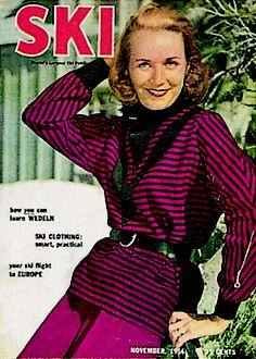 love this November 1956 Magazine cover. Ski Fashion, Fashion Today, Winter Fashion, Fashion Tips, Ski Magazine, Magazine Covers, Skiing Images, Vintage Ski Posters