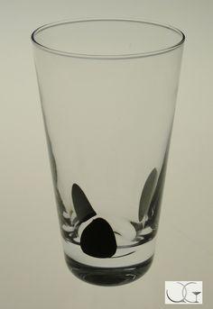 Szklanka z motywem kropki