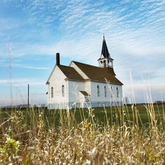 Rural North Dakota  How could I Not repin this!! Reminds me of Rose Valley Church just a few miles from my house!!
