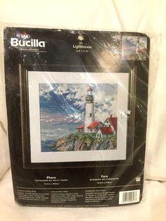 """Lighthouse"" Bucilla needlepoint kit~Nancy Rossi~unopened~discontinued~New #Bucilla Ebay Sale, Needlepoint Kits, Lighthouse, Tapestry, Bell Rock Lighthouse, Light House, Lighthouses"