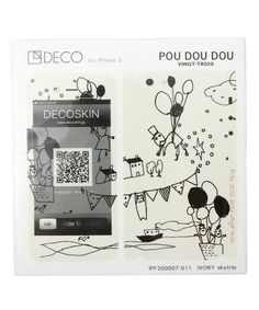 DECOSKIN iPhone5 for POUDOUDOU of (Pudo~udo~u) (Mobile Case / Cover) | White × Black