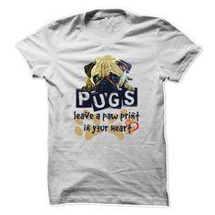 Pug Paw Print #pet #tshirt