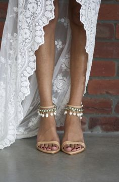 Leather Dosa heel with Hera anklet | Grace Loves Lace