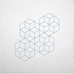 #339 Cubic dance – A new minimal geometric composition each day