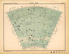 Star map, 1910