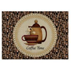 Coffee Time glass cutting Board